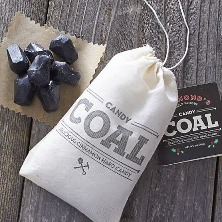 Bag of Coal Cinnamon Candy _Stocking Stuffers for Men who are snack happy