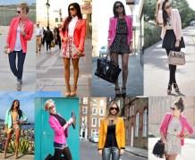 Women colorful blazer