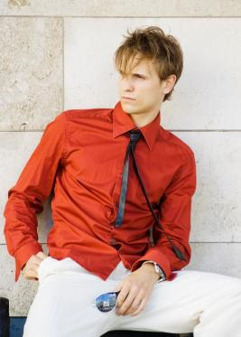 Men Plain Red Shirts