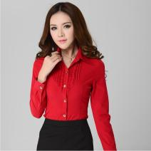 New Style Autumn Red Women Shirts