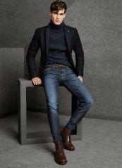 Black Cashmere Blazer With Denim Jeans for mens