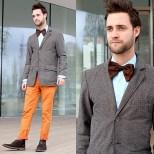 Dress Shirt And Bow Tie With Corduroy Blazer