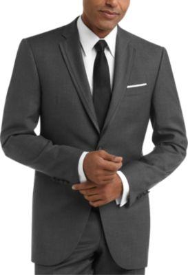 100 Wool Gray Slim Fit Tuxedo  Mens Tuxedos  BLACK by Vera Wang  Mens Wearhouse