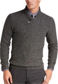 Joseph Abboud Black Button Shawl Sweater - Men's Sweaters ...