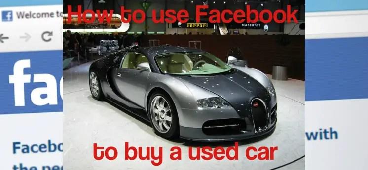 Facebook marketplace buy used car