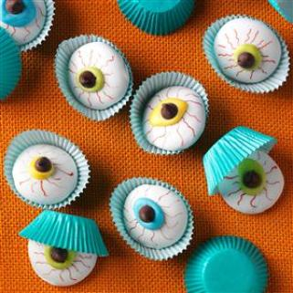 Eyeball Cookies Recipe - healthy Halloween cookies recipes