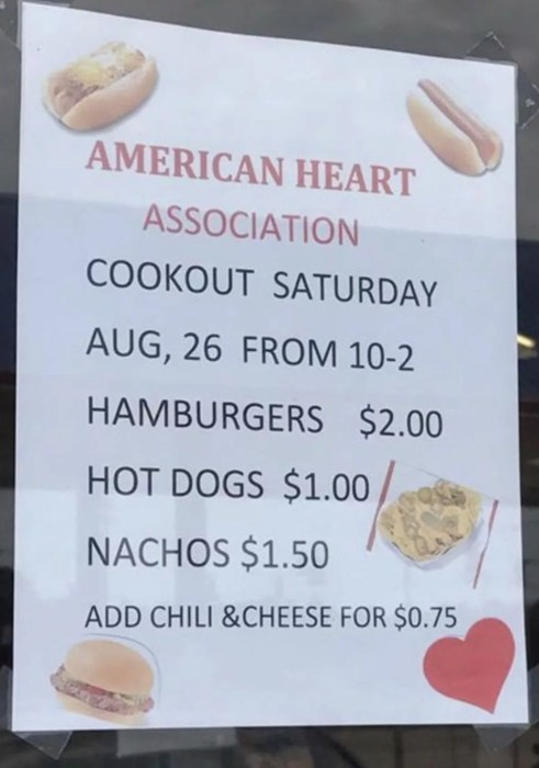 American Heart Association Hot Dogs for Sale