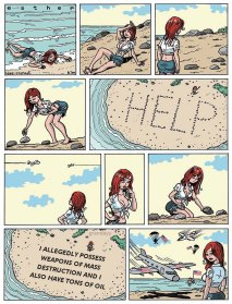 Help Sign in the Sand meme
