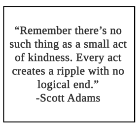 Remember there's no such thing as a small act Quote