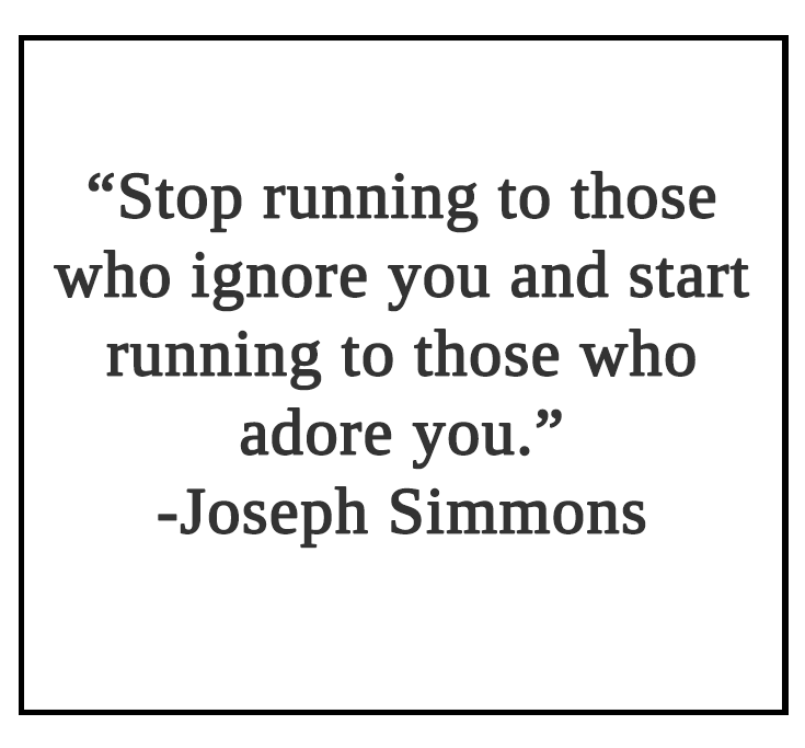 Stop running to those who ignore you Quote