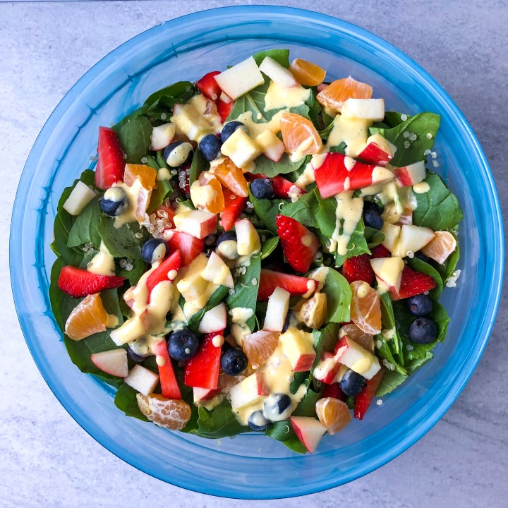 Breakfast Salad with Creamy Clementine Dressing