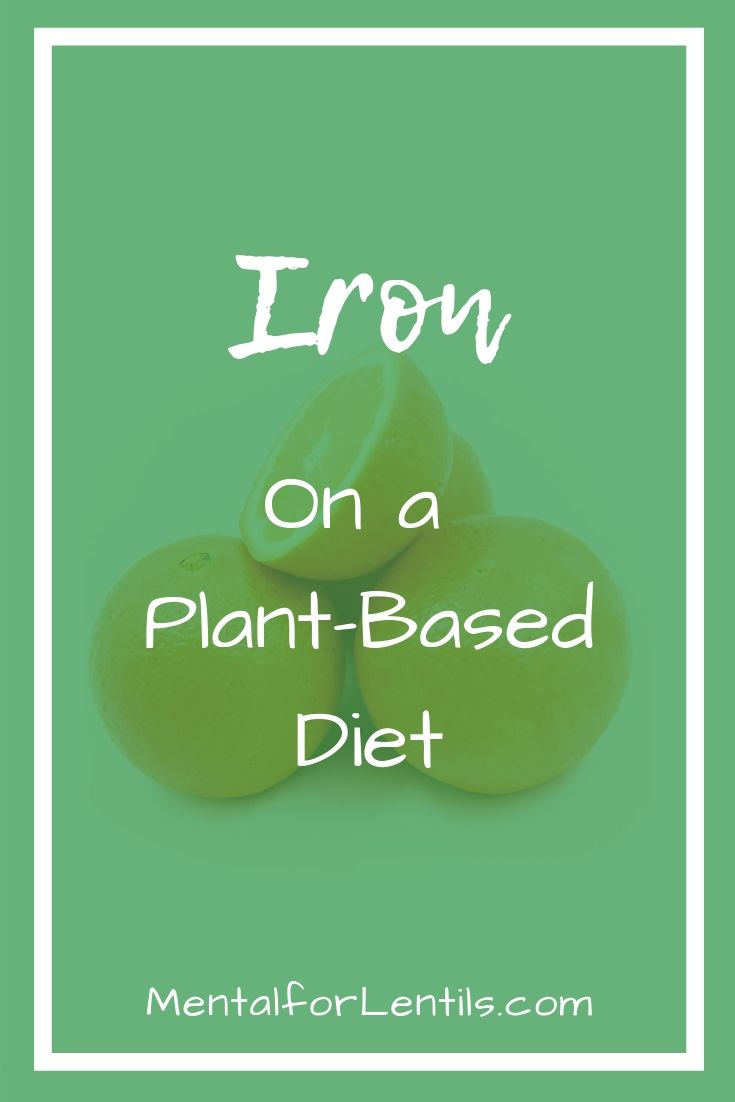 iron on a plant-based diet pin image