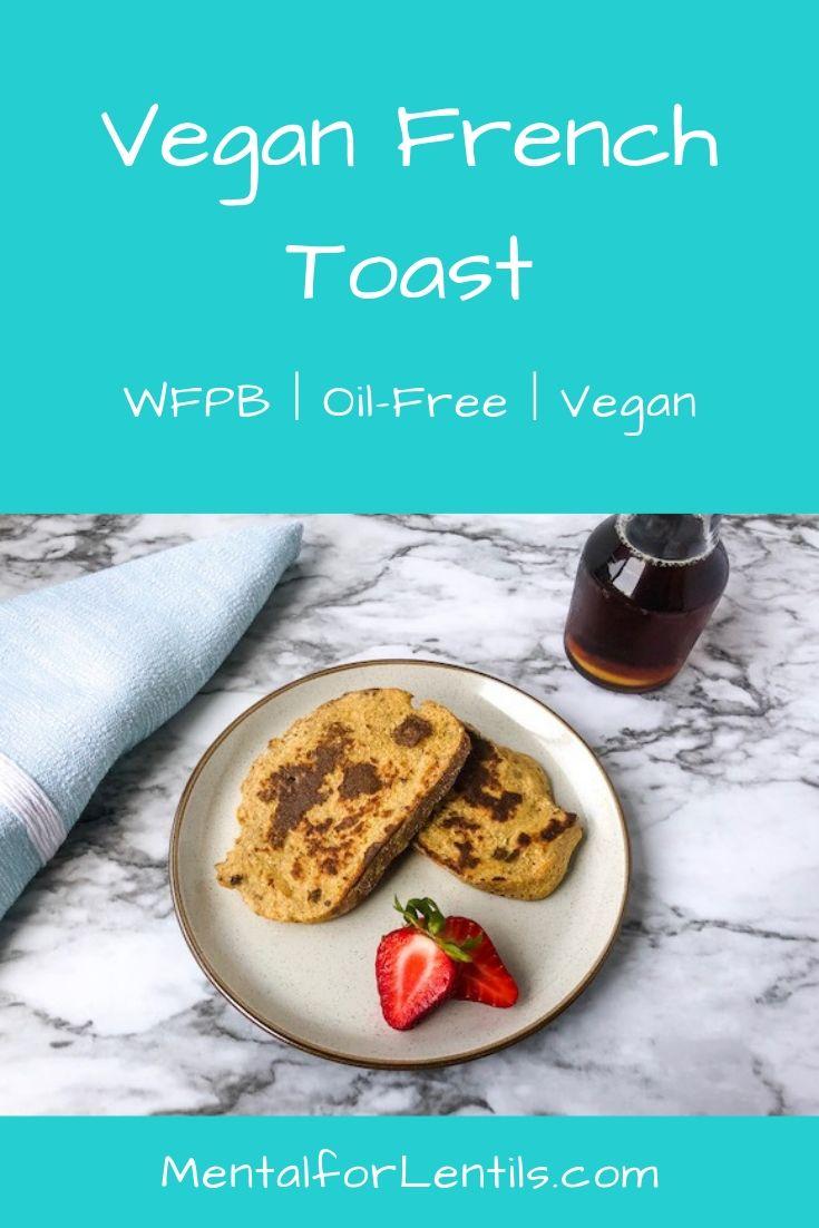 vegan french toast pin image 1