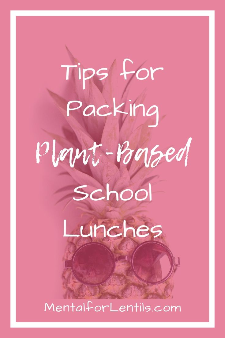 plant-based lunches pin image