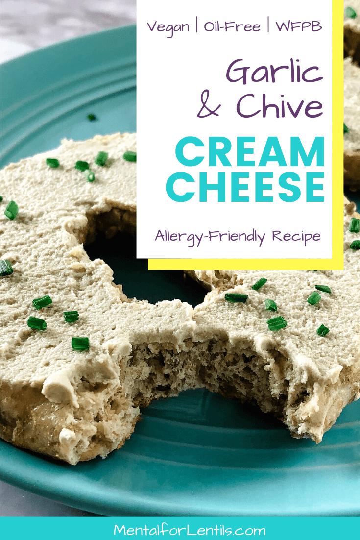 Vegan garlic & chive cream cheese pin image 1