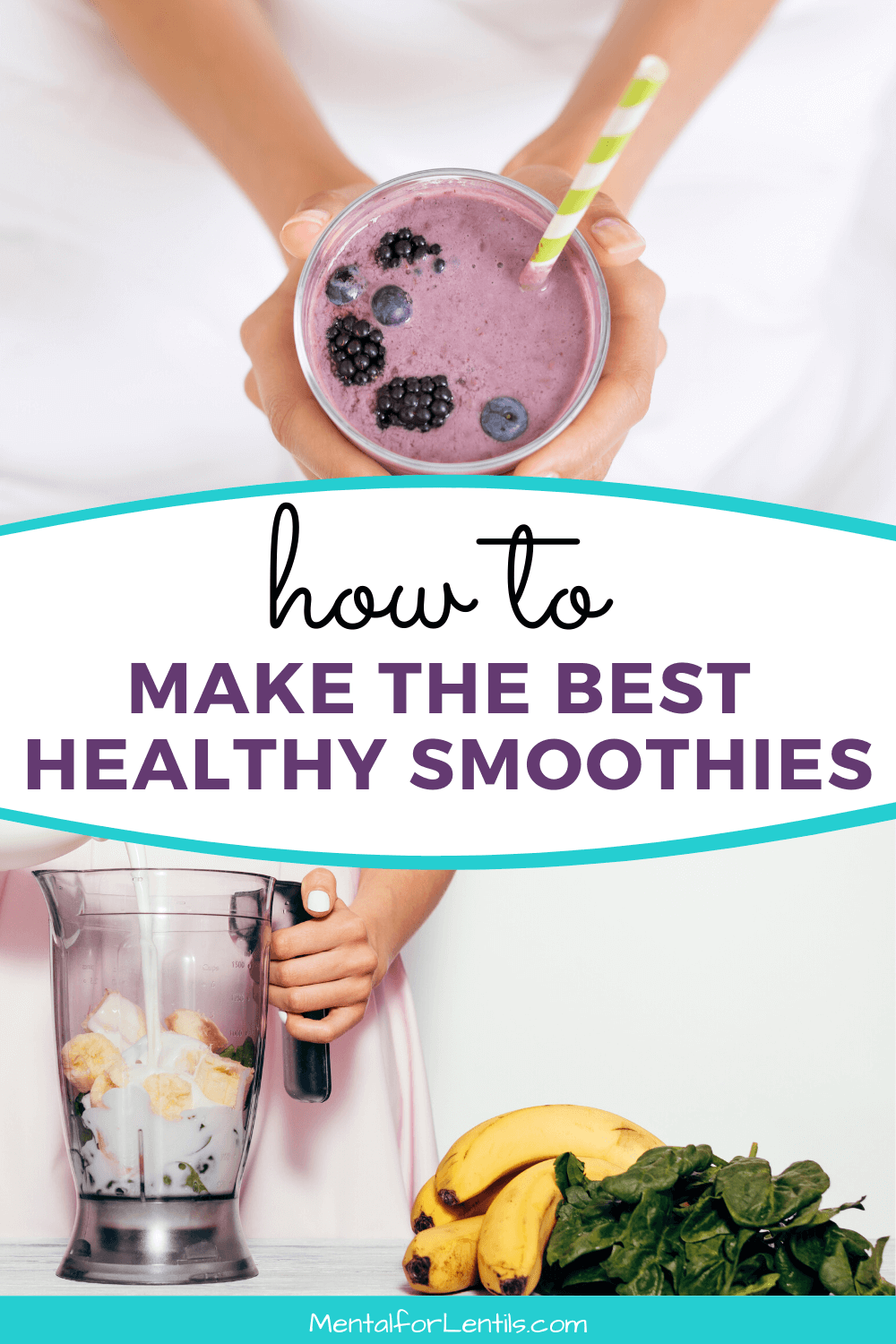 how to make healthy smoothies pin image 1