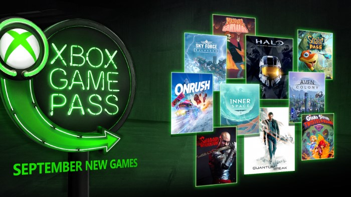 Xbox Game Pass September 2018 Additions