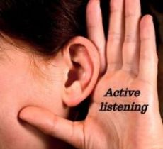 Managing emotions - active listening and making others feel heard