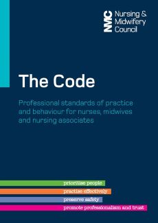 Coloured image of the Nursing & midwifery Council's The Code