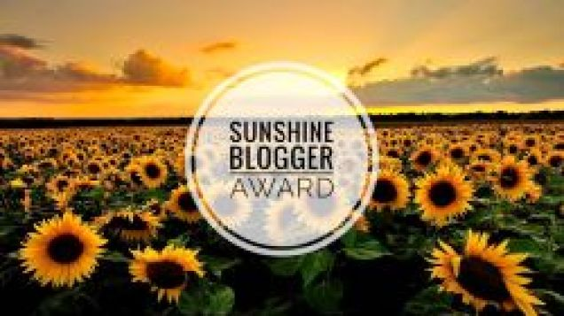 Sunshine Blogger Award for creative and inspiring bloggers