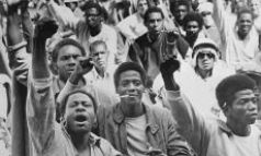 Racism: Black power salute from inmates in Attica Prison in 1971