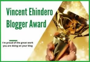 Vincent Ehindero Blog Award