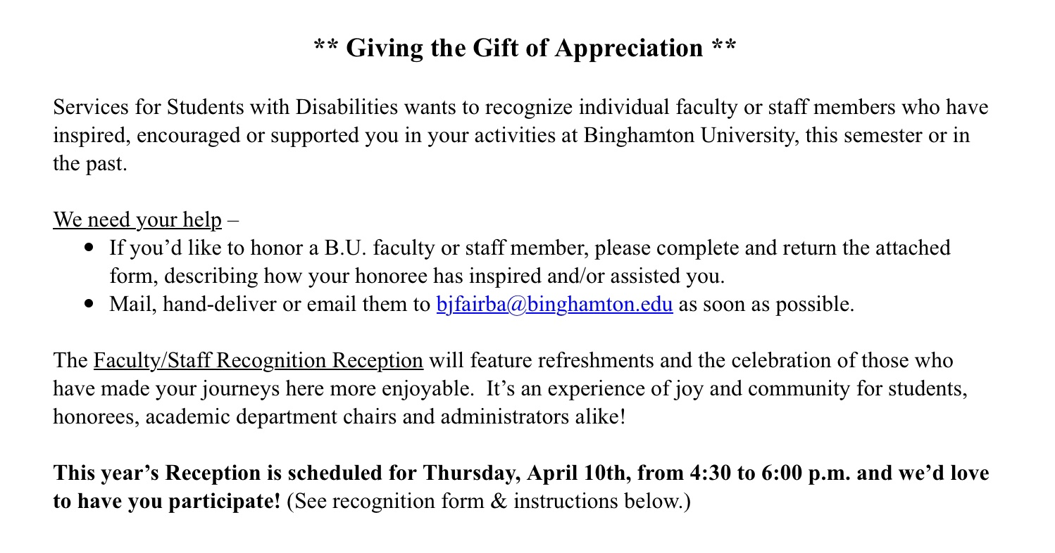 Celebrating Support and Services for People with Disabilities (SSD)🎗