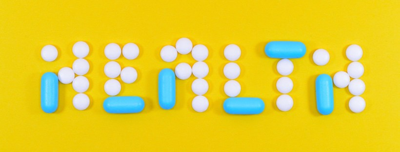 Health spelled out in tablets