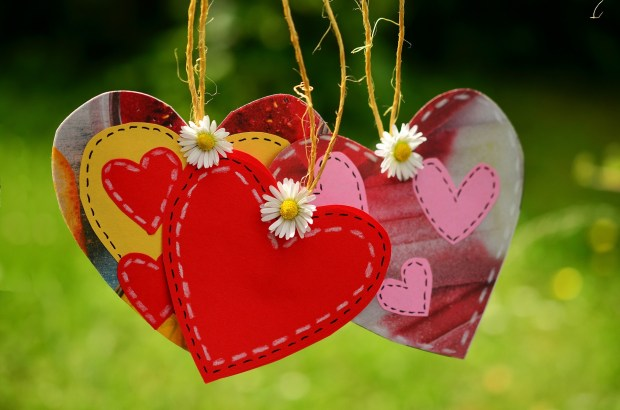 crafted hearts and flowers