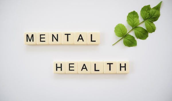 mental health spelled out in letter tiles