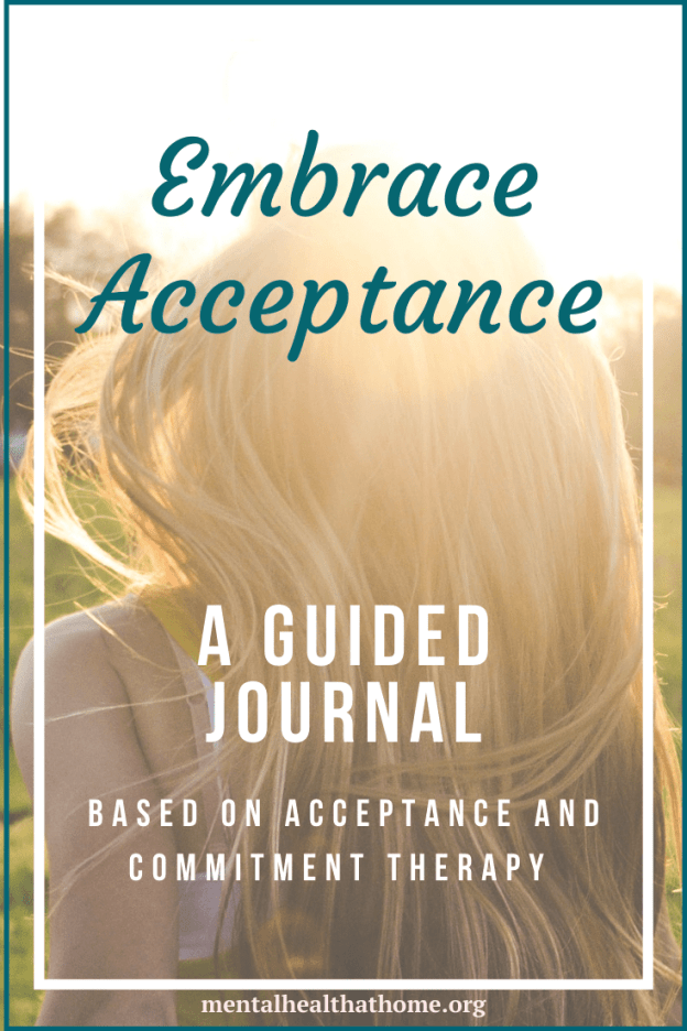 Embrace Acceptance guided journal from Mental Health @ Home
