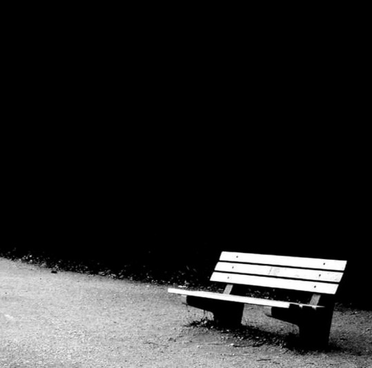 bench with no one around