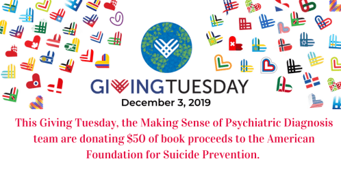Giving Tuesday - Making Sense of Psychiatric Diagnosis book proceeds donation