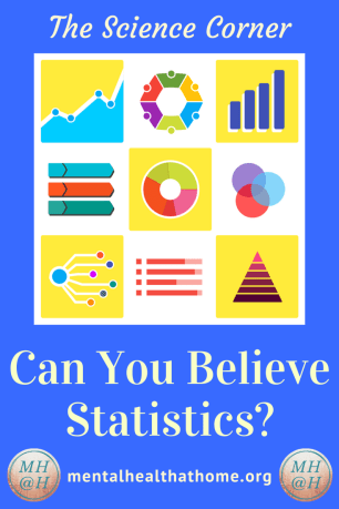 Mental Health @ Home Science Corner - Can you believe statistics? - image of different types of charts and graphs