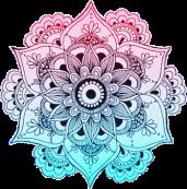 blue and pink mandala