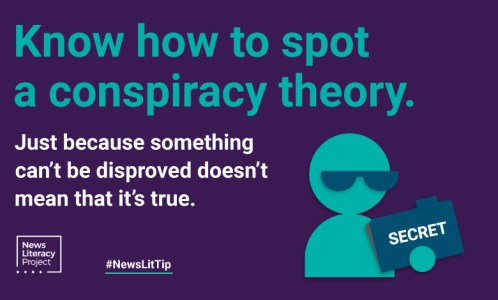 #NewsLitTip: Just because something can't be disproved doesn't mean that it's true