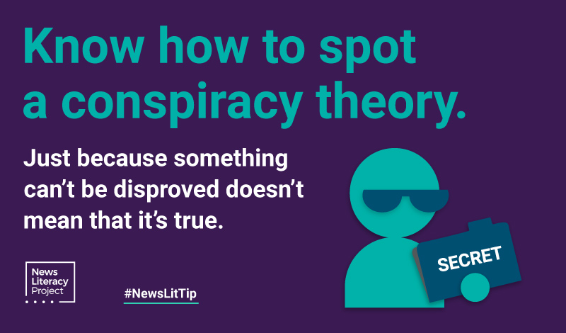 Know how to spot conspiracy theories