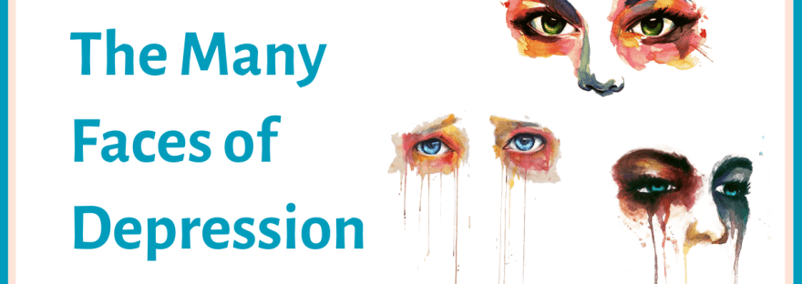 The many faces of depression - watercolour images of eyes