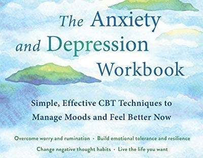 book cover: The Anxiety and Depression Workbook by Michael A. Tompkins