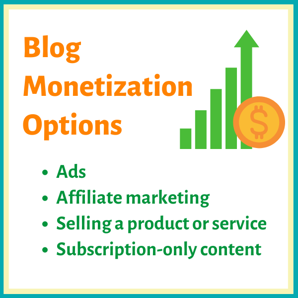 Blog monetization options