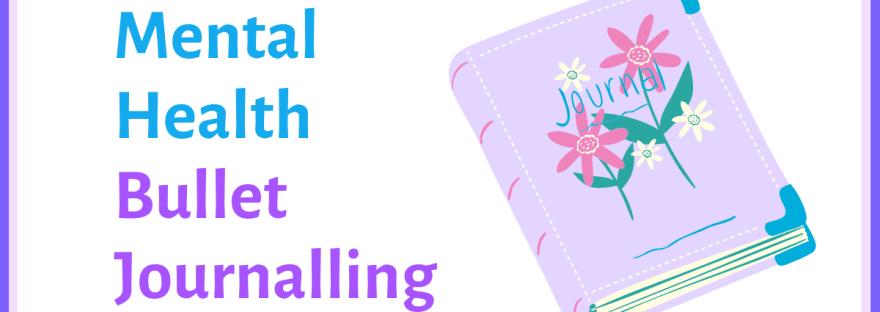 Mental health bullet journalling - image of a journal