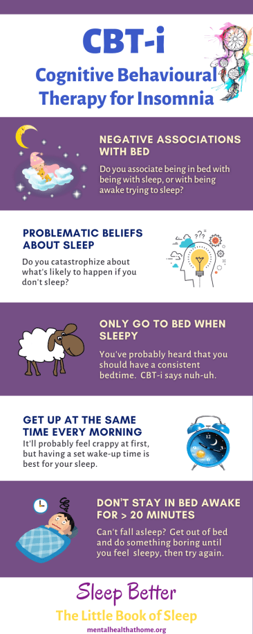 CBT for insomnia infographic