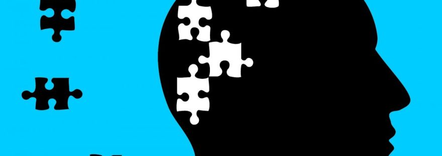 puzzle pieces leaving a person's head