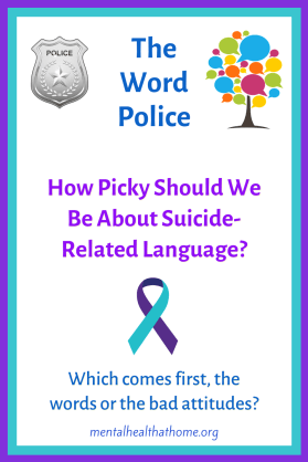 How picky should we be about suicide-related language? - image of suicide prevention ribbon