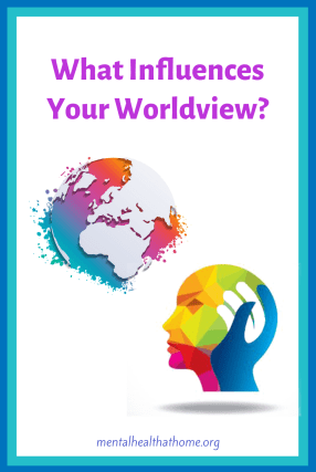 What influences your worldview? - image of a head gazing at planet Earth