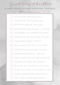 My Have a Good Day Checklist Worksheet