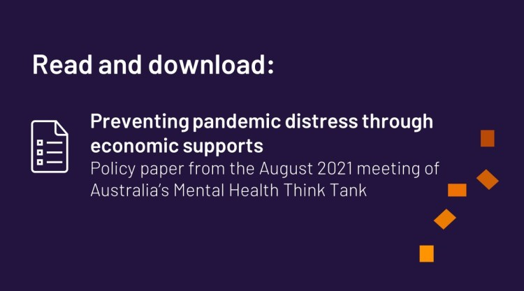 Cover image for the policy paper from Australia's Mental Health Think Tank's August 2021 meeting.