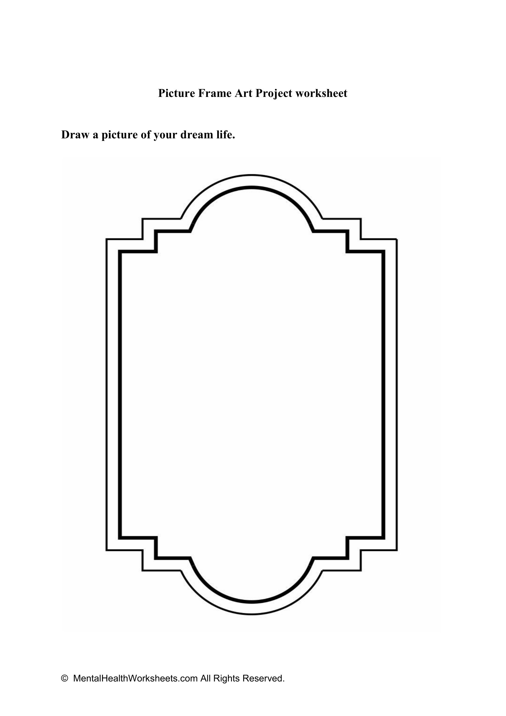 Picture Frame Art Project Worksheet