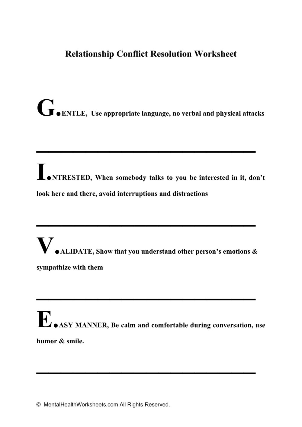 medium resolution of Resolve Conflict Worksheet   Printable Worksheets and Activities for  Teachers