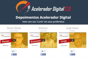 Acelerador Digital: Resultado do Concurso de Depoimentos